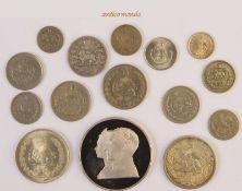 Iran, Lot von Münzen verschiedener Nominale und Regenten mit hohem Silberanteil, 15 Stück- - -21.