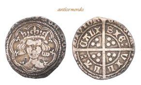 Großbritannien, Henry V., 1413-1422, Groat,o.J., sehr schön, 2,76 g- - -21.50 % buyer's premium on