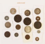 Thailand, Lot Münzen verschiedener Regenten und Nominale des 19. und 20. Jhd., Darunter auch