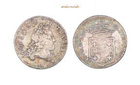 Frankreich Lothringen, Leopold I., 1697-1729 Teston 1716, mit Überprägungsspuren, sehr schön, 8,04