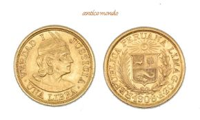 Peru, Republik, Libra, 1906, sehr schön-vorzüglich, 8,00 g- - -21.50 % buyer's premium on the hammer