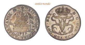 Dänemark, Dänisch-Westindien Frederik V., 1746-1766, 12 Skilling, 1757, sehr schön. 3,16 g- - -21.50