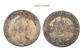 Dänemark, Dänisch-Westindien, Frederik V., 1746-1766, 12 Skilling, 1748, fast sehr schön, 2,93
