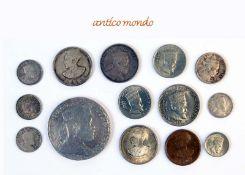 Äthiopien, Lot von Münzen verschiedener Nominale und Regenten, darunter auch einige Seltenheiten,