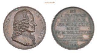 Frankreich, Bronzemedaille, 1817 (spätere Prägung), vorzüglich, 36,88 g- - -21.50 % buyer's