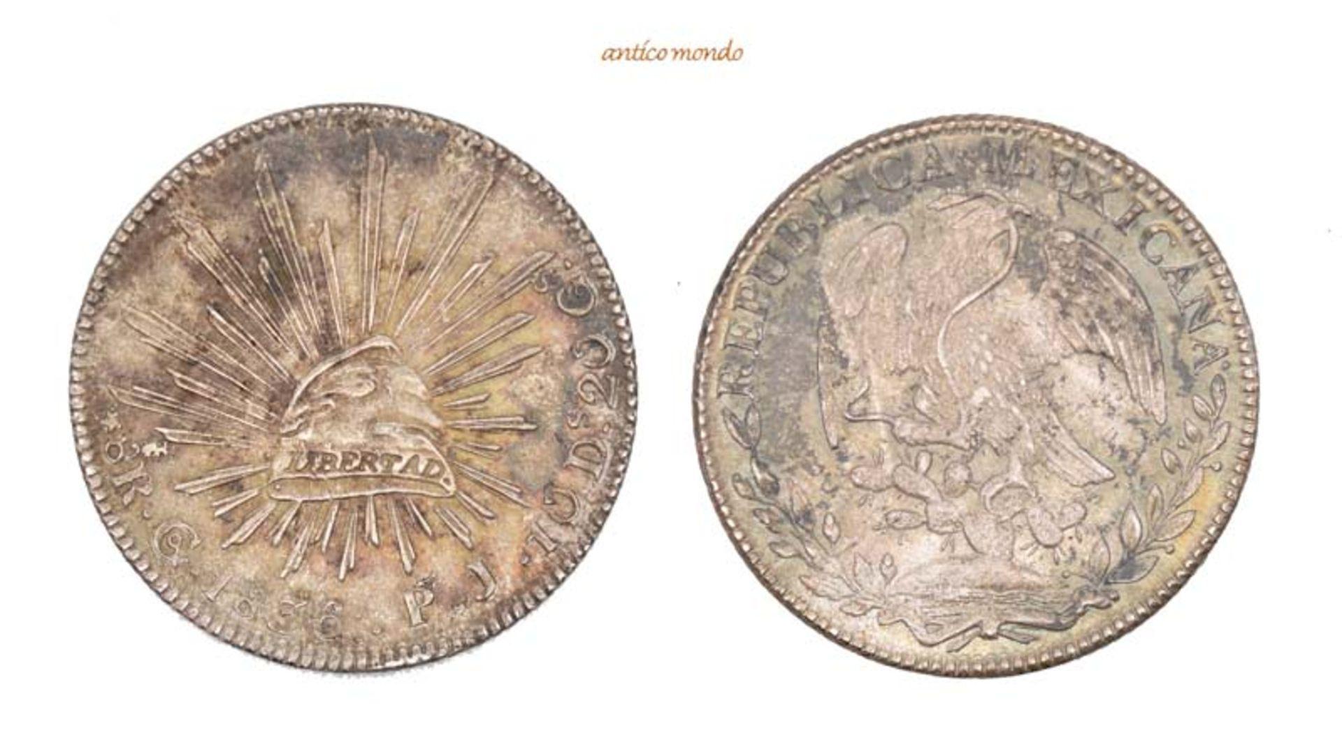 Mexiko, Republik, 8 Reales, 1836, hübsche Patina, vorzüglich +, 27,12 g- - -21.50 % buyer's