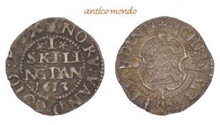 Dänemark, Christian IV., 1588-1648, 1 Skilling, 1613, sehr schön. 1,15 g- - -21.50 % buyer's premium