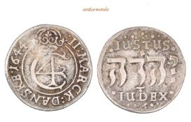 Dänemark, Christian IV., 1588-1648, 2 Mark, 1644, fast sehr schön, 10,37 g- - -21.50 % buyer's