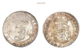 Dänemark, Frederik III., 1648-1670, Krone (4 Mark), 1668, sehr schön-vorzüglich, 19,73 g- - -21.50 %