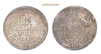 Dänemark, Frederik II., 1559-1588, 2 Skilling, 1563, sehr schön-vorzüglich, 2,22 g- - -21.50 %