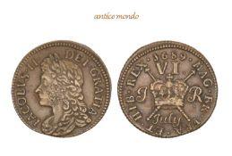 Großbritannien, Irland, James II., 1685-1688 Sixpence (July), 1689, sehr schön, 3,23 g- - -21.50 %