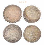 Dänemark, Frederik II., 1559-1588, 1 und 2 Skilling, 1563 und 1562, sehr schön-vorzüglich, 2