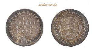 Dänemark, Christian IV., 1588-1648, 1 Skilling,1605, sehr schön, 1,47 g- - -21.50 % buyer's