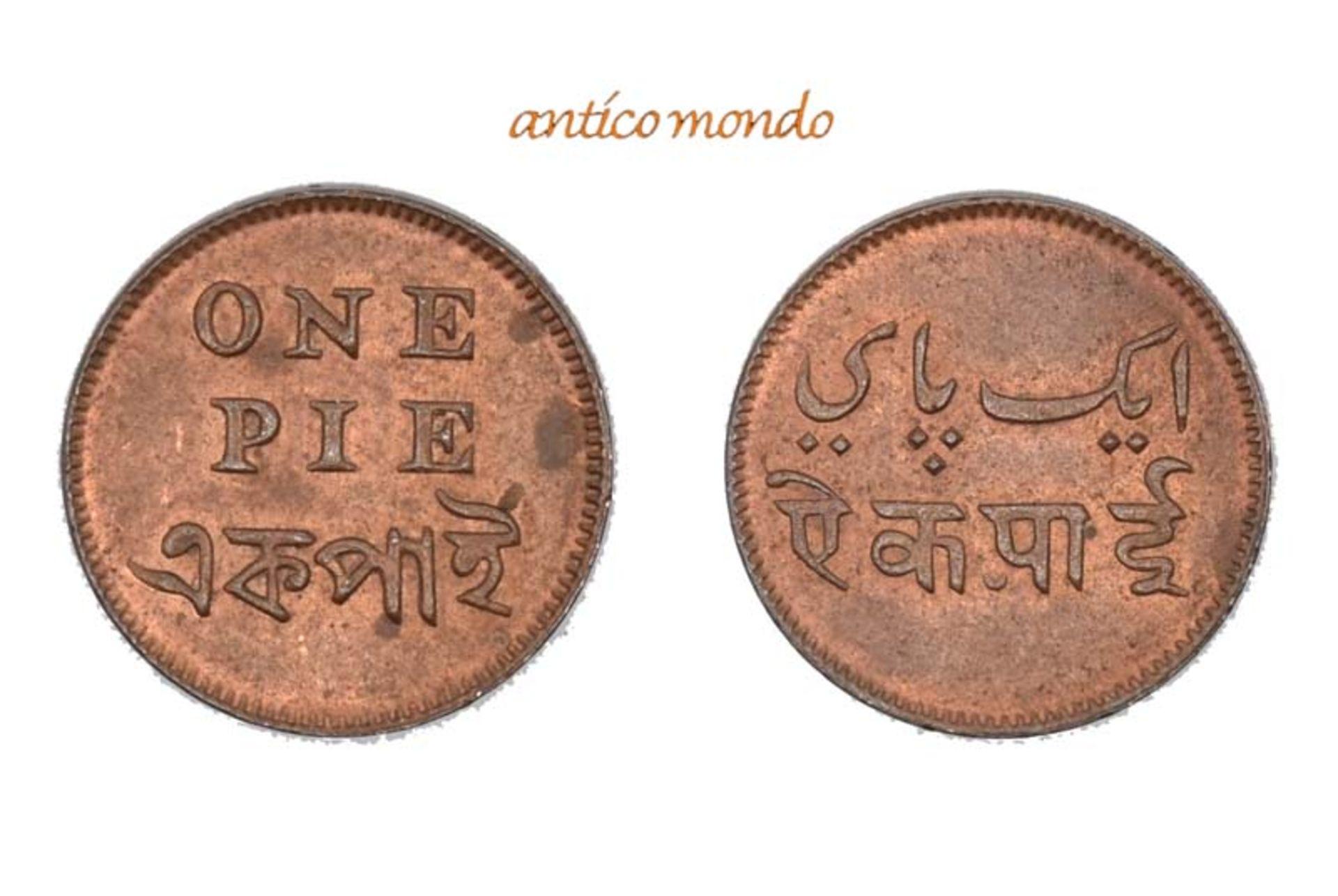 Indien, Bengalen, Pie, o.J. (1831-1835), vorzüglich-Stempelglanz, 2,16 g- - -21.50 % buyer's premium