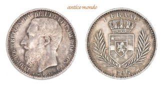 Belgien, Kongo, Leopold II. von Belgien, 1875-1909, 1 Franc, 1896, vorzüglich, 4,98 g- - -21.50 %