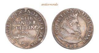 Dänemark, Christian IV., 1588-1648, 8 Skilling, 1608, kl. Henkelspur?, sehr schön +, 2,78 g- - -21.