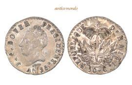 Haiti, Republik, 50 Centimes, An 25 (1828), vorzüglich, 5,33 g- - -21.50 % buyer's premium on the