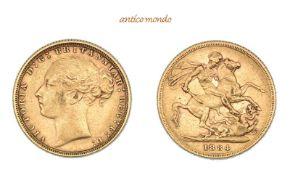 Australien, Victoria, 1837-1901, Sovereign, 1884, sehr schön, 8,00 g- - -21.50 % buyer's premium