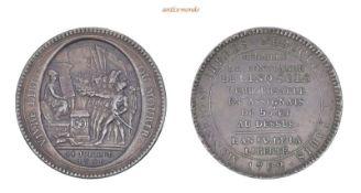 Frankreich Bourbonen, Constitution, 1791-1792, Bronzemedaille de confiance zu 5 Sols, 1792, fast