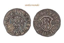 Dänemark, Frederik III., 1648-1670, 2 Skilling, 1650, hübsche Patina, vorzüglich +. 1,12 g- - -21.50