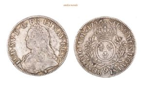 Frankreich, Ludwig XV., 1715-1774, Ecu, 1726, fast sehr schön, 29,11 g- - -21.50 % buyer's premium