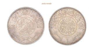 Saudi Arabien, Abd Al-Aziz Bin Sa'ud, 1925-1953, Rial, AH 1348 (1929), vorzüglich, 24,05 g- - -21.50