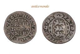 Dänemark, Frederik III., 1648-1670, 2 Skilling, 1660, sehr schön, 1,04 g- - -21.50 % buyer's premium