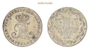Dänemark, Frederik VI., 1808-1839, 1/6 Riksdaler (Mark), 1808, sehr schön-vorzüglich, 5,10 g- - -