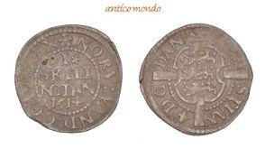 Dänemark, Christian IV., 1588-1648, 1 Skilling, 1614, sehr schön, 1,20 g- - -21.50 % buyer's premium