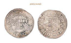 Dänemark, Christian IV., 1588-1648, 4 Skilling, 1616, leichte Prägeschwäche, leicht gewellt, sehr
