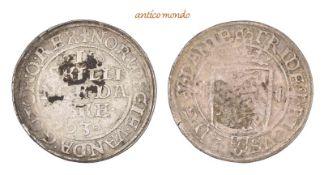 Dänemark, Frederik II., 1559-1588, 2 Skilling, 1563, Reste von Belag, sehr schön, 2,25 g- - -21.50 %