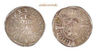 Dänemark, Christian IV., 1588-1648,1 Skilling, 1608, sehr schön, 1,22 g- - -21.50 % buyer's