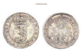 Dänemark, Frederik III., 1648-1670, 2 Mark, 1668, sehr schön.10,58 g- - -21.50 % buyer's premium
