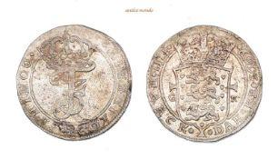 Dänemark, Frederik III., 1648-1670, Krone (4 Mark), 1669, Kl. Schrötlingsfehler, sehr schön-