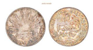 Mexiko, Republik, 8 Reales, 1894, hübsche Patina, vorzüglich, 27,06 g- - -21.50 % buyer's premium on