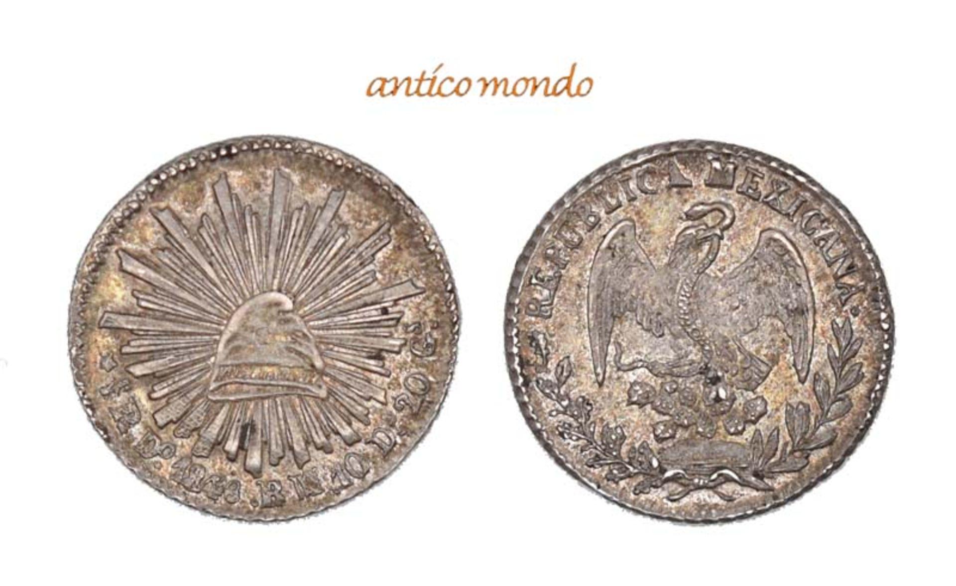 Mexiko, Republik, 1/2 Real, 1848, Stempelglanz, 1,65 g- - -21.50 % buyer's premium on the hammer