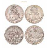 Mexiko, Republik, Peso, 1872,1873, sehr schön, 2 Stück- - -21.50 % buyer's premium on the hammer