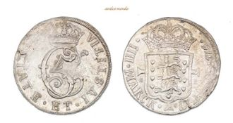 Dänemark, Christian V., 1670-1699, Krone (4 Mark), 1676, Kl. Schrötlingsfehler, sehr schön-