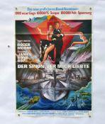 """Filmplakat """"Der Spion der mich liebte"""", 60x84 cm, Knickfalten, Tesafilmreste, sonst guter"""