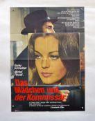 """Filmplakat """"Das Mädchen und der Kommissar"""", 60x84 cm, Knickfalten, sonst sehr guter Zustand"""