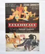 "Filmplakat ""Feuerball"", 60x84 cm, Knickfalten, Nadellöcher, sonst guter Zustand"