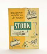 """Blechschild """"Stork"""" 1956, 29x40 cm, Z 2+"""