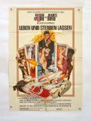 """Filmplakat """"James Bond- Leben und Sterben lassen"""", 64x80 cm, Knickfalten, Nadellöcher, sonst guter"""