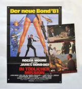 """Filmplakat """"James Bond-In tödlicher Mission"""", 60x84 cm + 30x43 cm, mit 12 Aushangfotos"""