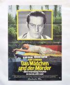 """Filmplakat """"Das Mädchen und der Mörder"""", 60x84 cm, Knickfalten, sonst sehr guter Zustand"""