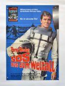 "Filmplakat ""Perry Rhodan SOS aus dem Weltall"", 59x84 cm, Knickfalten, 4 Nadellöcher, sonst guter"