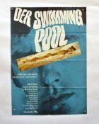 "Filmplakat ""Der Swimmingpool"" Romy Schneider-Alain Delon, 60x84 cm, Knickfalten, sonst sehr guter"