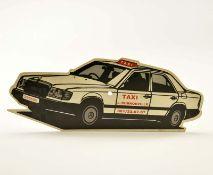Taxi Schild, 45 cm, Kst, min. Altersspuren