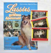 "Pressemappe von 1968, ""Lassies größtes Abenteuer"" Plakat + 22 Aushangfotos, 60x84 cm, diverse"