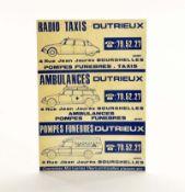 """Schild """"Citroen"""", France, 35x50 cm, Kst, Altersspuren"""